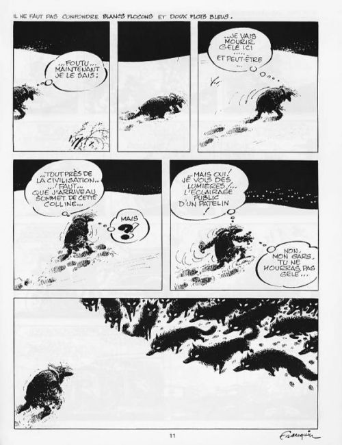 Lights in the Distance (Idées Noires, ill. Franquin)