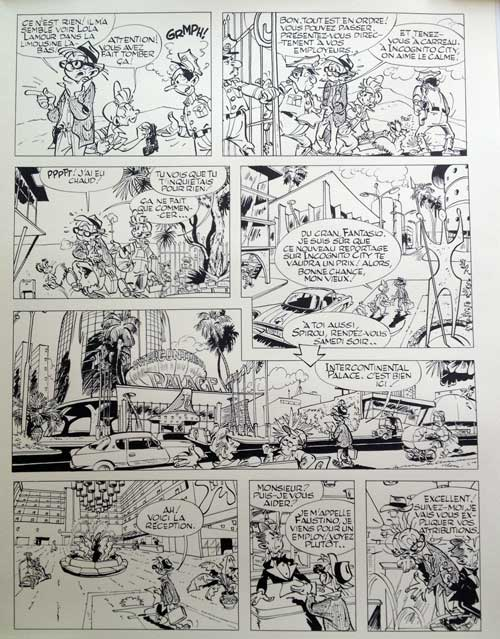 "Pirates du Silence ""sequel"" pages (ill. pseudo-Franquin)"