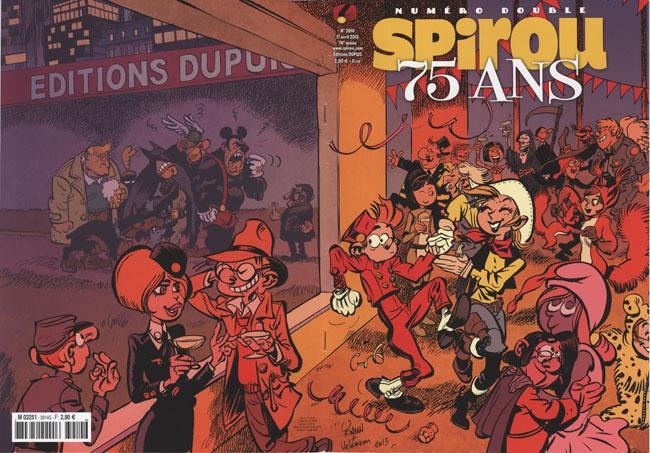 Journal de Spirou 3914 cover (ill. Dupuis, Yoann)