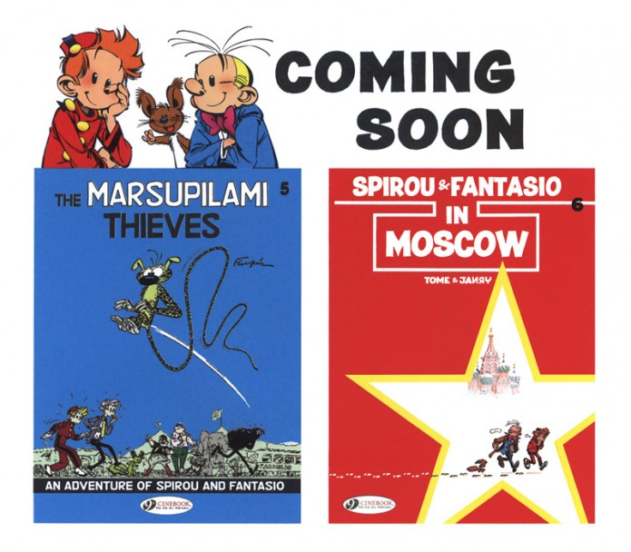 Coming soon (ill. Tome & Janry, Franquin; (c) Cinebook)