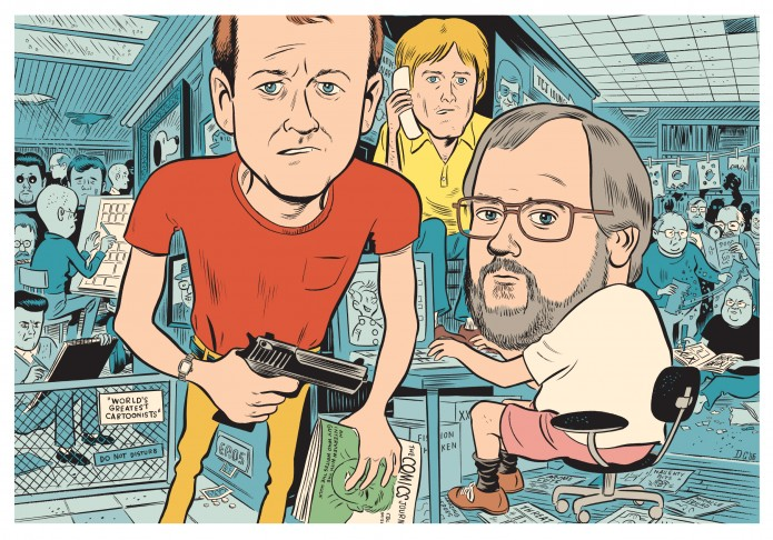 From 'Comics as Art: We Told You So'  (ill. Daniel Clowes; (c) Fantagraphics)