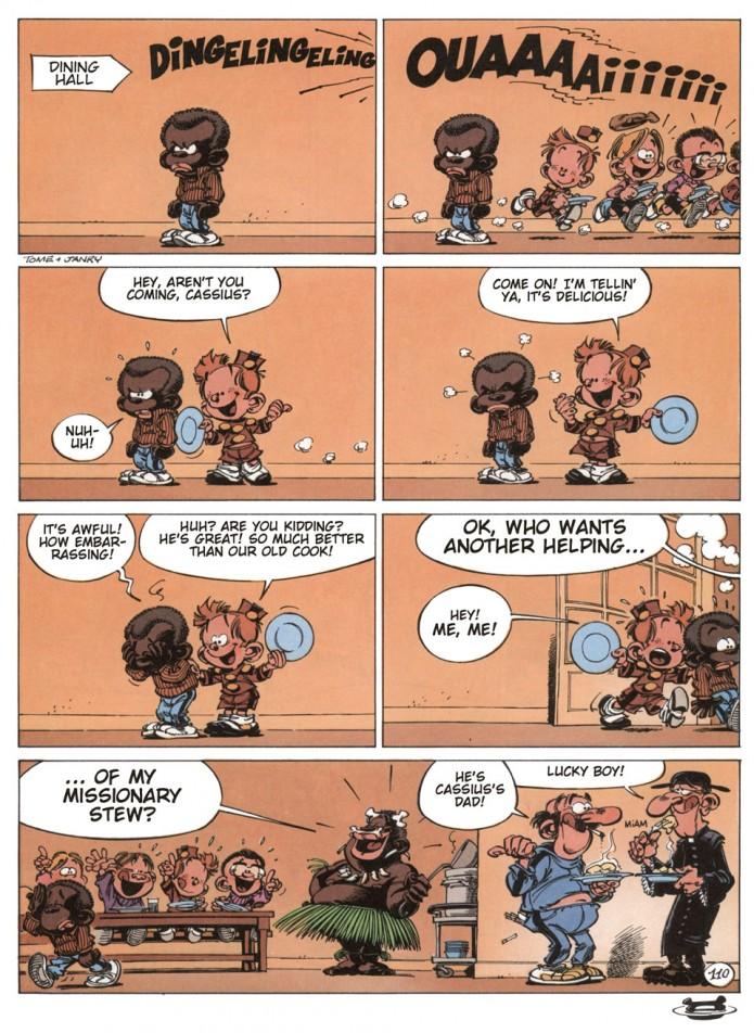 Le Petit Spirou gag #110 (ill. Tome & Janry; (c) Dupuis; SR scanlation)
