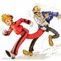 Spirou et Fantasio fan art (ill. jinguj, via DeviantArt)