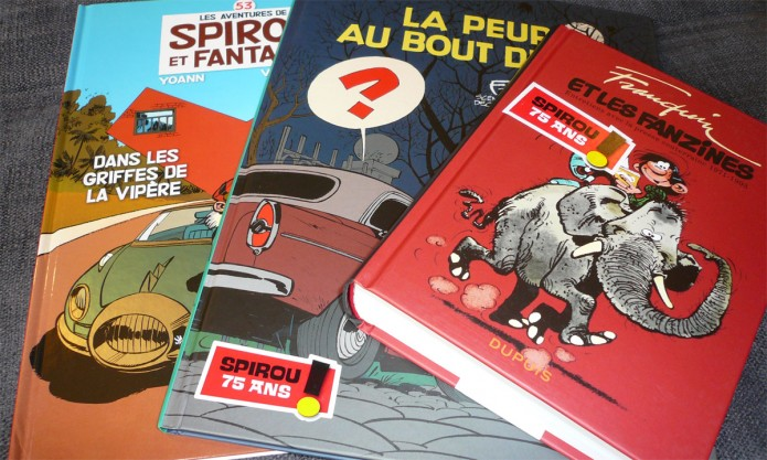 June 2013 publications (Spirou #53 shown for scale)