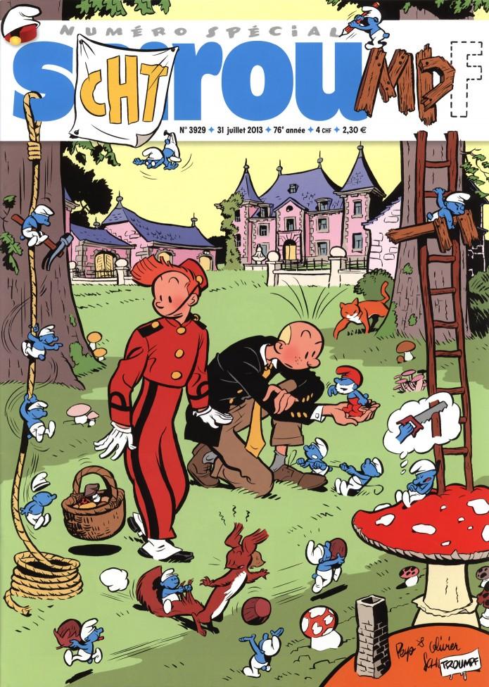 Journal de Spirou #3929 cover (ill. Olivier Schwartz; (c) Dupuis)
