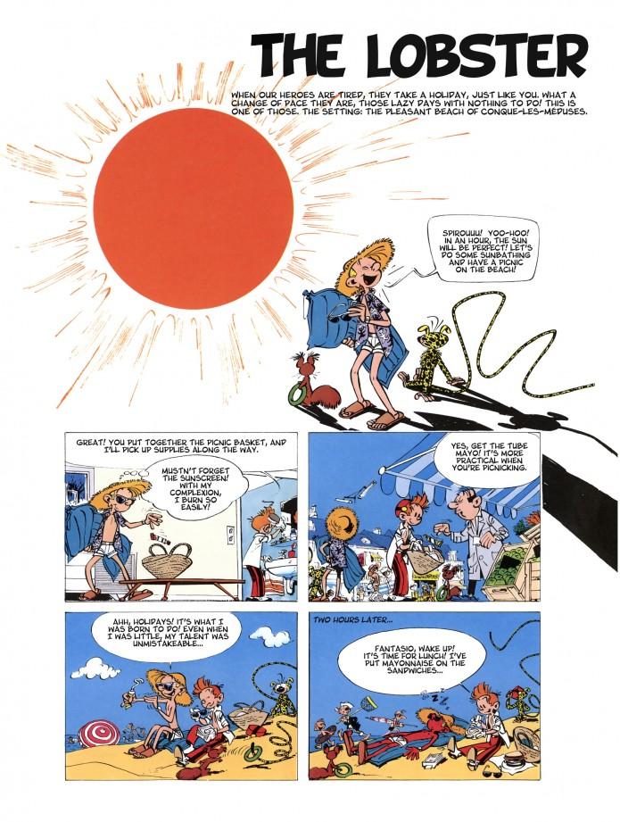 'The Lobster' p.1 (ill. Franquin; (c) Dupuis; SR scanlation)