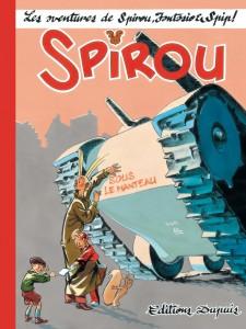 'Spirou: Sous le manteau' cover (ill. Séverin; (c) Dupuis)
