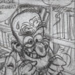 Sketch for Spirou #54 (ill. Yoann, Vehlmann; (c) Dupuis)