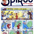 Spirou doesn't like water (ill. Rob-Vel; (c) Dupuis; houbanaut scanlation)