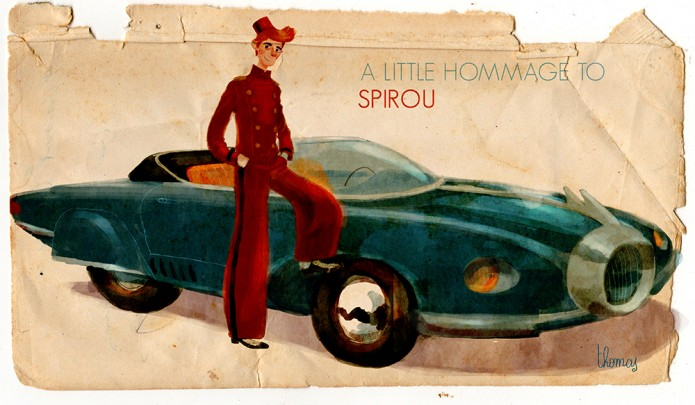 A little hommage to Spirou (ill. Thomas Campi)