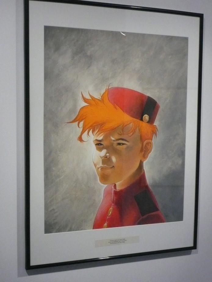 Spirou portrait (ill. Frank Pé, for 'Les portraits héroïques', 2008)