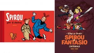 'Spirou par Chaland' and 'Spirou & Fantasio: L'Intégrale 1984-1987' covers (ill. Dupuis, Chaland, Tome & Janry; (c) Dupuis)