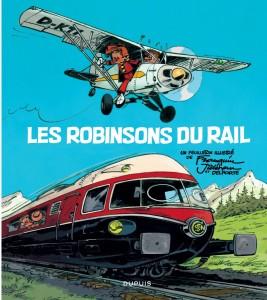 'Les Robinsons du rail' cover (ill. Franquin, Jidéhem; (c) Dupuis)