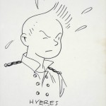Spirou sketch (ill. Chaland; (c) Dupuis and the artist; image via Artcurial)