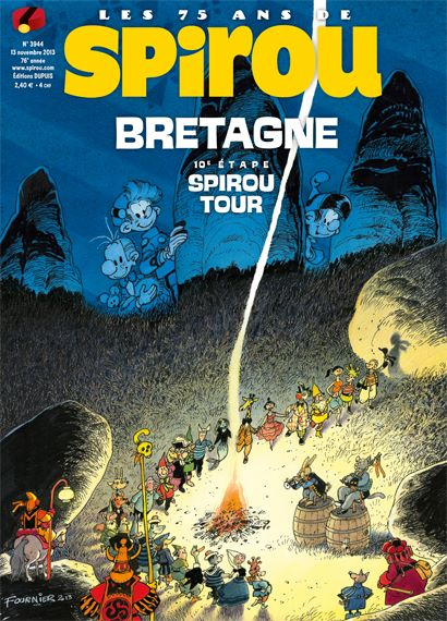 Journal de Spirou #3944 cover (ill. Fournier; (c) Dupuis and the artist; image via Facebook)