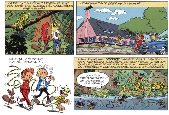 From Marsupilami #27, 'Coeur d'etoile' in JdS #3945, p.45 (ill. Batem & Colman; (c) Marsu/Dupuis and the artists)