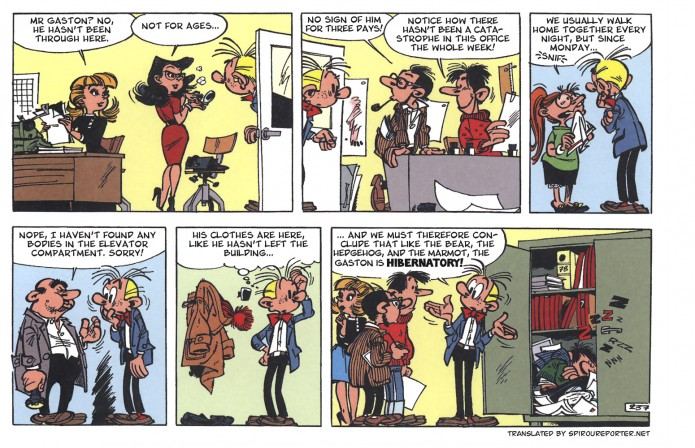 Gaston gag 237 (ill. Franquin and Jidéhem; (c) Dupuis and the artists)