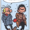 Fantasio and Gaston, from Gaston gag 237 (ill. Franquin and Jidéhem; (c) Dupuis and the artists)