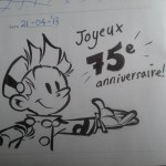 'Joyeux 75e anniversaire' (ill. Henrieke Goorhuis; (c) Dupuis and the artist; image from facebook)