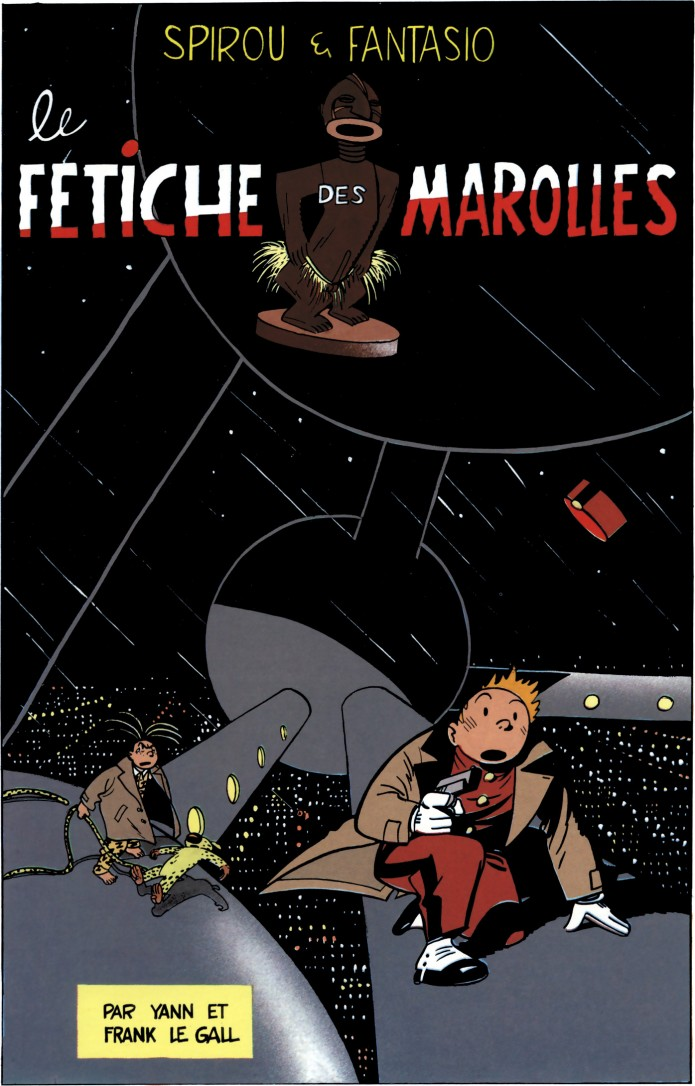 'Le fétiche des Marolles' from '20 couvertures de Spirou et Fantasio' (ill. Le Gall & Yann; (c) Éditions du Lion, Dupuis and the artists)