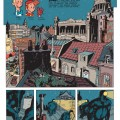 'Le fétiche des Marolles' p. 1 (ill. Schwartz & Yann; (c) Dupuis and the artists; picture from InediSpirou)