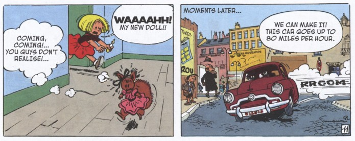 From Spirou #5 'The Marsupilami Thieves' by Cinebook (ill. Franquin; (c) Cinebook, Dupuis and the artist)
