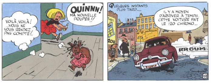 From Spirou #5 'Les voleurs du Marsupilami' (ill. Franquin; (c) Dupuis and the artist)