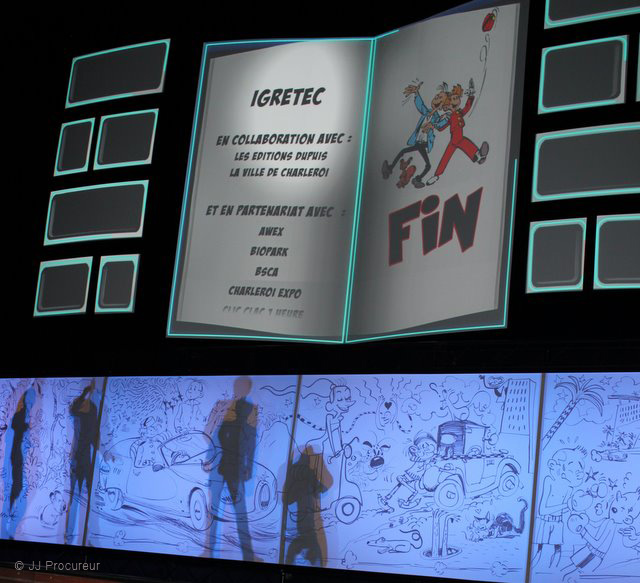 75 Years of Spirou closing ceremony (photo by JJ Procureur via blog.dupuis.com)