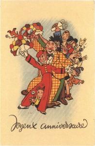 'Joyeux anniversaire' (ill. Jijé; (c) Dupuis and the artist)