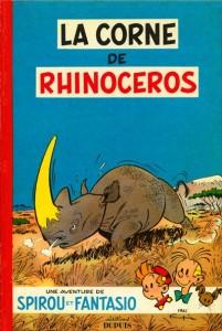 Spirou #6 'La corne de rhinocéros' (ill. Franquin; (c) Dupuis and the artist; image from bedetheque.com)