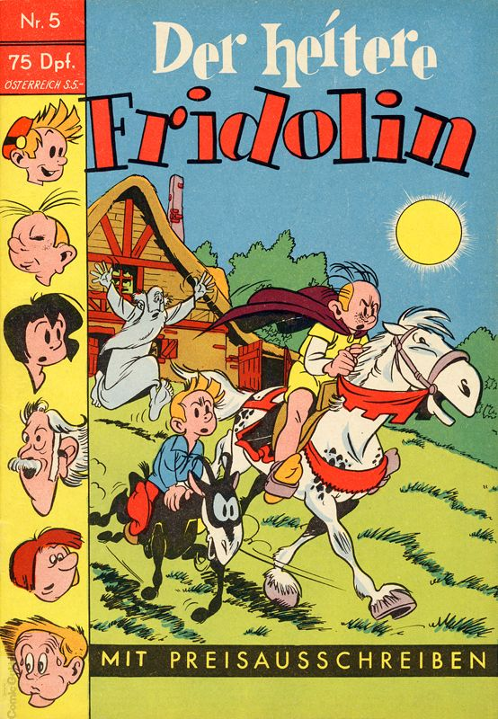 'Der heitere Fridolin' #5 cover (ill. Peyo and unknown artist; (c) Semrau, Dupuis and the artists; image from comicguide.de)