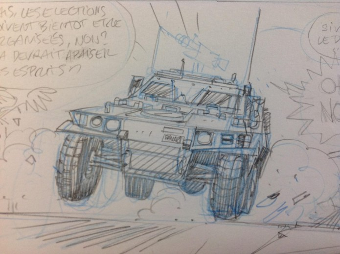 Spirou #54 sketch (ill. Yoann, Vehlmann; (c) Dupuis and the artists; image from inedispirou.com)