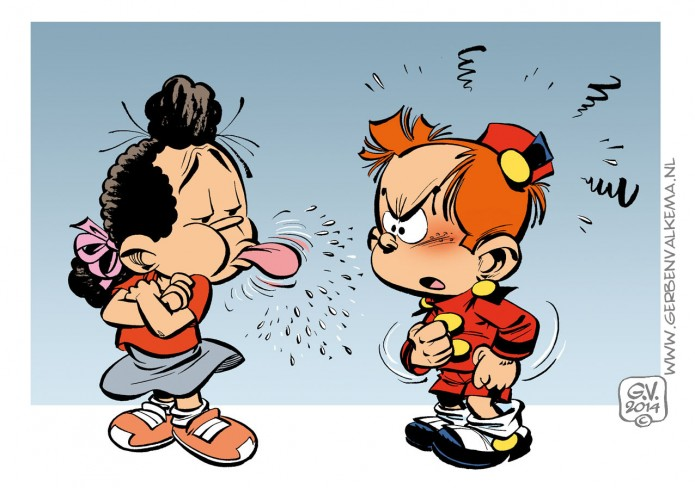 Le Petit Spirou and Elsje (ill. Gerben Valkema; (c) Dupuis and the artist)