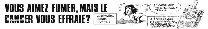 Hauts de pages 'Vous aimez fumer?' (ill. Yann & Conrad; (c) Dupuis, Dargaud and the artists)