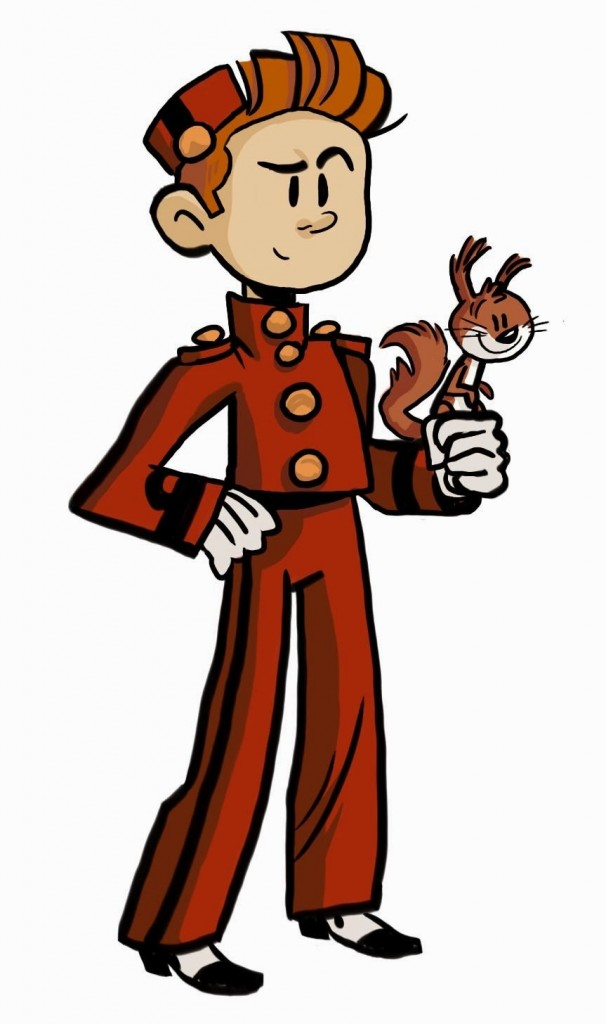 Spirou et Spip (ill. Mike Myhre; (c) the artist; from spacejet.blogspot.com)