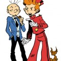 Spirou, Fantasio & Spip (ill. François Duprat; (c) Dupuis and the artist; image from capuchman.free.fr)