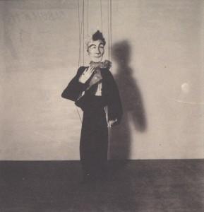 Fantasio 'Le Farfadet' marionette (photo from Xavier Moon's collection, via 'La véritable histoire de Spirou 1937-1946' by CBPY)