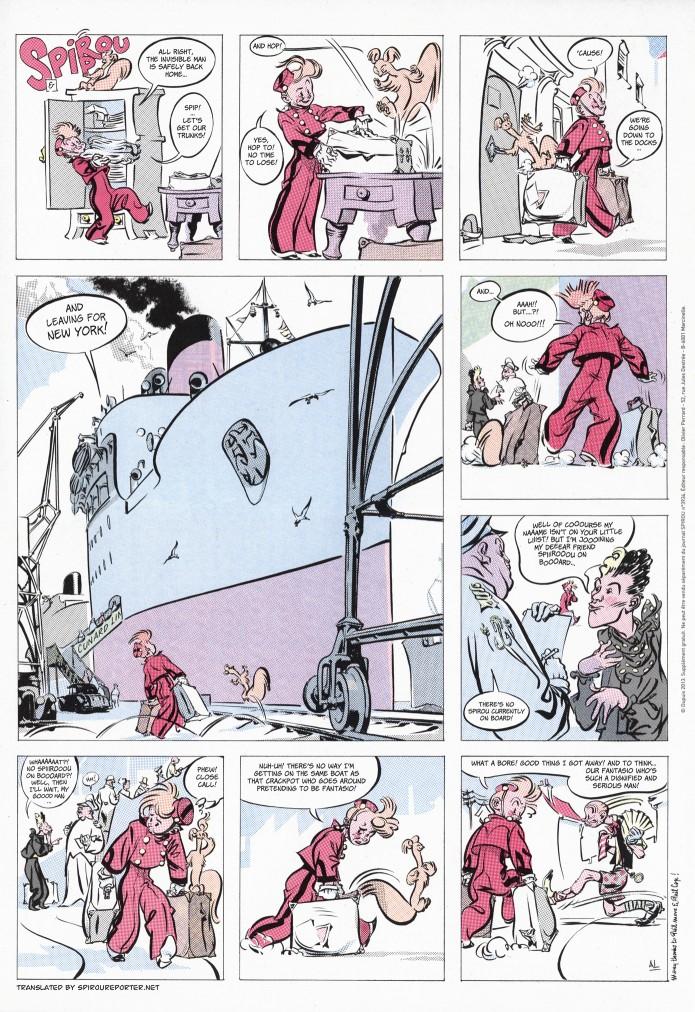 'Spirou & Spip' (ill. Al Séverin; (c) Dupuis and the artist; SR scanlation)