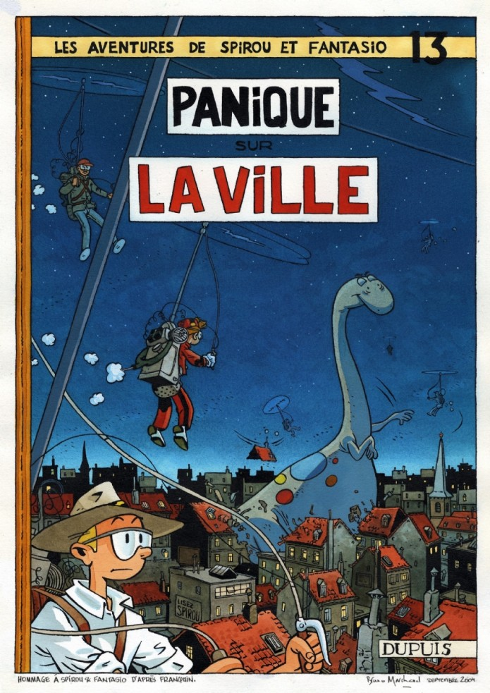 'Panique sur la ville' (ill. Bruno Marchand; (c) the artist; image from comicartfans.com)