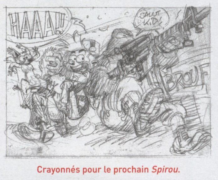 Sketch for Spirou #54, from JdS #3979 (ill. Yoann & Vehlmann; (c) Dupuis and the artists)