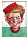 Spirou portrait (ill. Jijé; (c) Dupuis and the artist; image from jije.org)