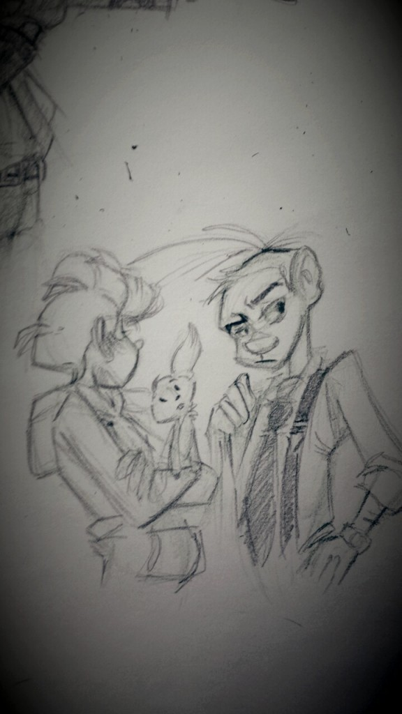 Spirou et Fantasio fanart (ill. daintyblackberri; (c) Dupuis and the artist; image from tumblr)