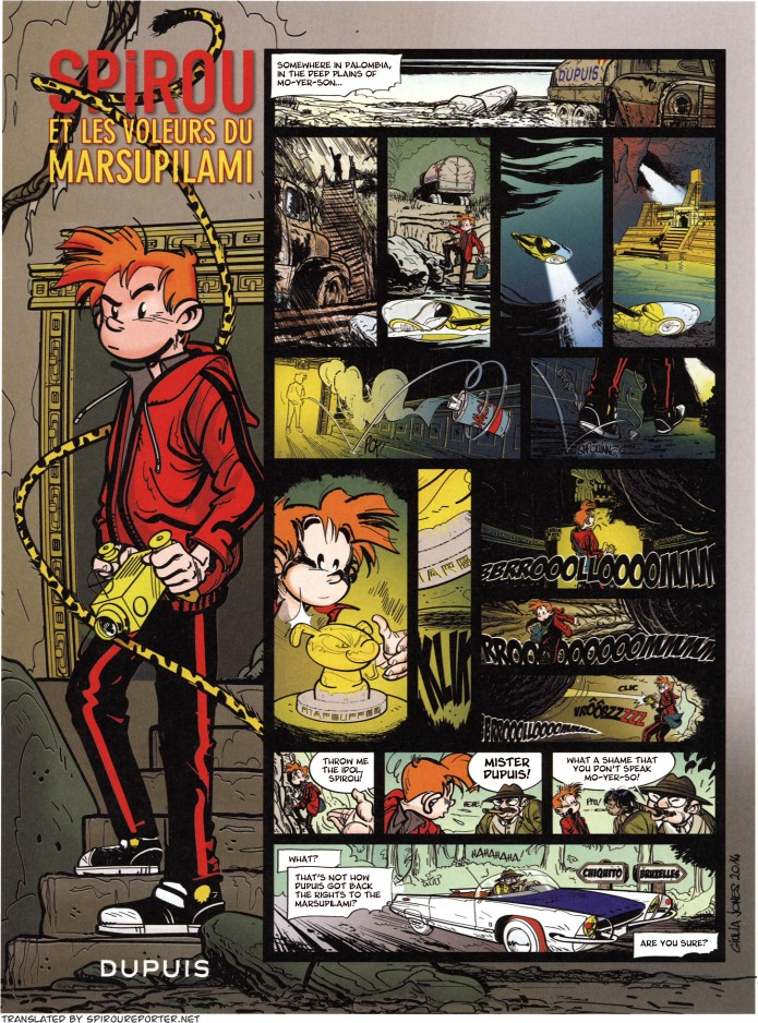 Spirou et les voleurs du Marsupilami (ill. Giulia Jones; (c) Dupuis and the artist; from Journal de Spirou #3979)