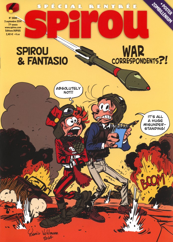 Journal de Spirou #3986 (ill. Yoann & Vehlmann; (c) Dupuis and the artist; SR scanlation)
