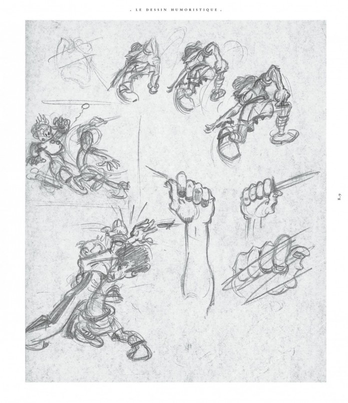 Sketches from 'Franquin/Jijé: Comment on devient créateur de bandes dessinées (ill. Franquin; (c) Dupuis and the artist)