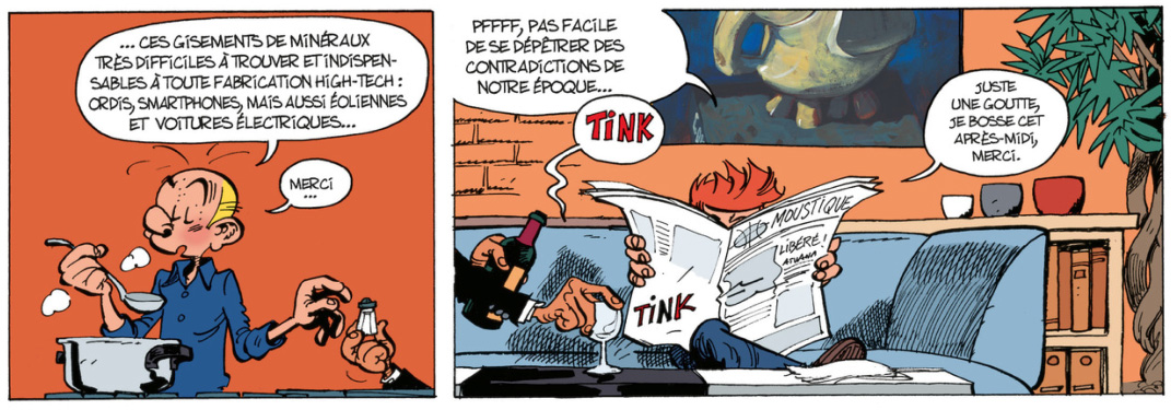 Spirou #54 p3d, from Journal de Spirou #3986 (ill. Yoann & Vehlmann; (c) Dupuis and the artists; image from Izneo.com)