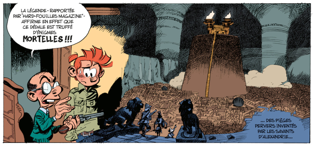 Spirou #54 p3, from Journal de Spirou #3986 (ill. Yoann & Vehlmann; (c) Dupuis and the artists; image from Izneo.com)
