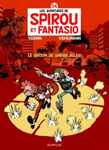 Spirou 54 cover FR 'Le groom de Sniper Alley' (ill. Yoann & Vehlmann; (c) Dupuis and the artists; from amazon.fr)