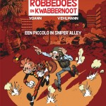 Spirou 54 cover NL 'Robbedoes en Kwabbernoot 54: Een piccolo in Sniper Alley' (ill. Yoann & Vehlmann; (c) Dupuis and the artists; from dupuis.com)