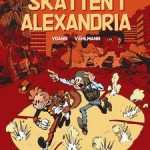 Spirou 54 cover SE 'Spirous äventyr 53: Skatten i Alexandria' (ill. Yoann & Vehlmann; (c) Dupuis and the artists)